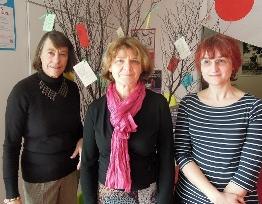 Une partie de l'équipe du GREC Bretagne : Martine Hédou, Yvonne Savary, Marie-Agnès Ollier